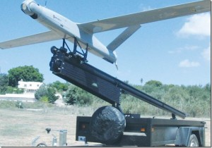An IDF drone carrying the CONTROP T-Stamp triple-sensor, small stabilized payload is ready for launch[1]