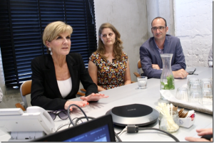 Julie Bishop MP visits Tel Aviv tech ABC Online