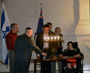 Holocaust candle lighting in Melbourne