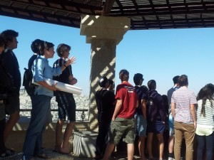 Geo-strategic tour with Miri Eisin overlooking Jerusalem
